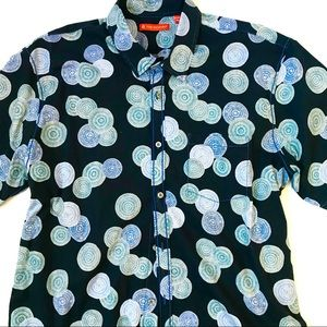 Tori Richard Print Button Down Short Sleeve Shirt